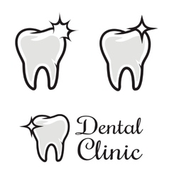 Dental clinic logo template human tooth with vector