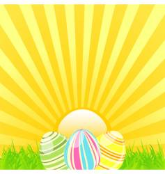 Easter sunshine background vector image