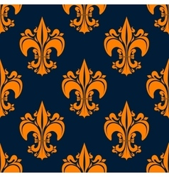 Elegant french seamless fleur-de-lis pattern vector