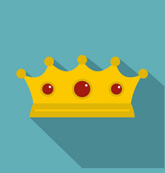 Jewelry crown icon flat style vector
