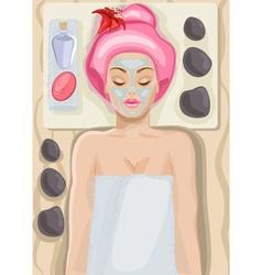 Lady Enjoying a Spa Cartoon vector image vector image