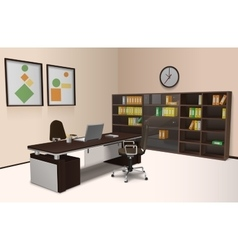 Realistic Office Interior vector image vector image