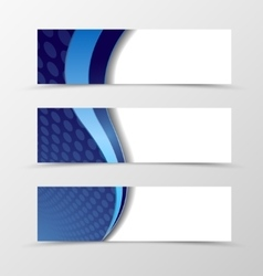 Set of banner circle grid design vector image