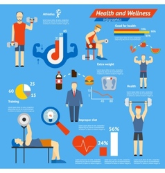 Sport and fitness infographics vector image vector image