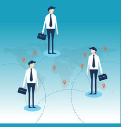 successful business of connection in worldwide vector image