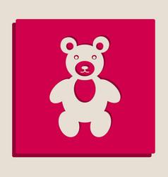 Teddy bear sign grayscale vector