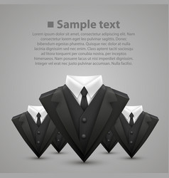 triangle jacket and tie team vector image