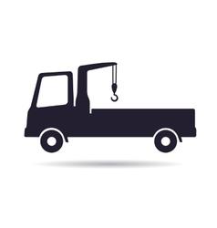 Truck crane icon vector image