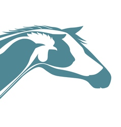 Veterinary logo vector image