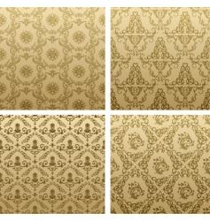 Vintage wallpaper pattern vector