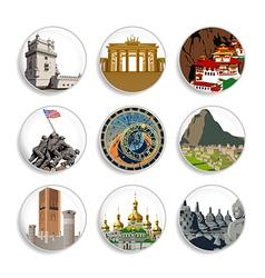 Travel destination badges - set 4 vector