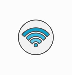 Colorful wifi circle icon vector