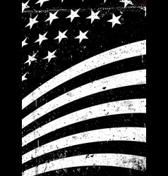 Black and white grunge united states of america vector