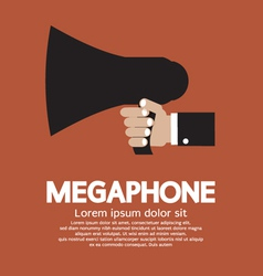 Hand holding a megaphone vector