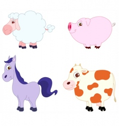 Cute animals vector