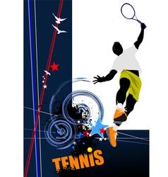 poster tenn 002 vector image
