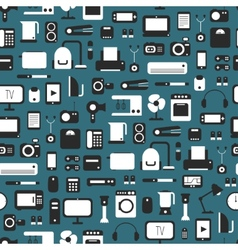 Seamless pattern of electronic devices and home vector