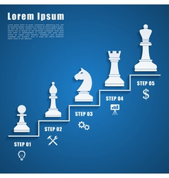 Chess infographic vector
