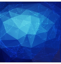 Abstract blue low poly bright technology vector