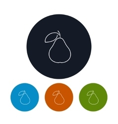 Icon pear in the contours vector