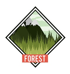 Forest design vector