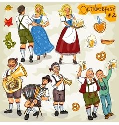 Oktoberfest - hand drawn collection - part 2 vector