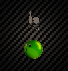 Bowling bowl on the dark background as design vector