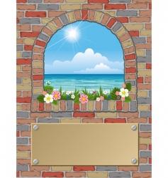 arch window vector image