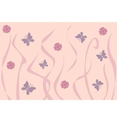 Art nouveau inspired floral background vector