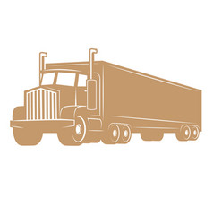 cargo truck isolated on white vector image