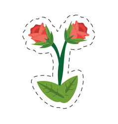 Cartoon rose flower image vector