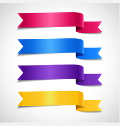 colored decorative arrow ribbons set vector image vector image
