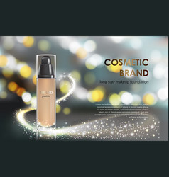 colorstay make-up in elegant packaging gray vector image vector image