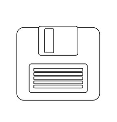 computer diskette icon image vector image