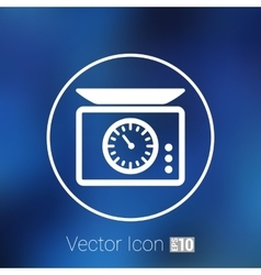 electronic scales icon isolated square floor vector image vector image