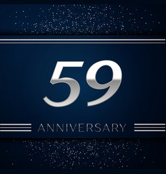 fifty nine years anniversary celebration logotype vector image vector image