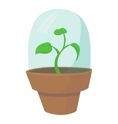 Greenhouse icon cartoon style vector
