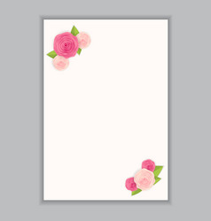 greeting card blank template vector image vector image
