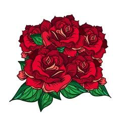 Hand Drawn Wedding Rose Bouquet vector image