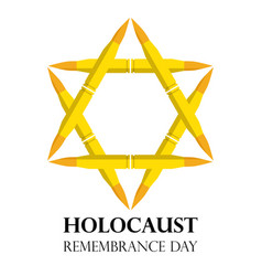 holocaust remembrance day may 5 jewish star made vector image vector image