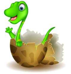 Little dinosaur birth vector
