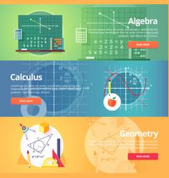mathematical science algebra calculus geometry vector image