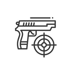 Shooter - line design single isolated icon vector