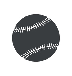 silhouette ball baseball sport american icon vector image