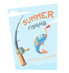 Summer fishing vector image vector image