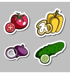 Vegetablesstickers vector
