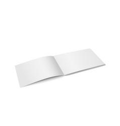 White mock up of magazine isolated vector