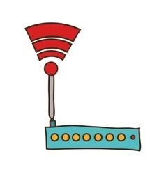 Wifi router device vector