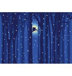 winter love owl vector image