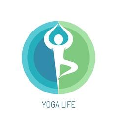 Yoga logo concept vector image